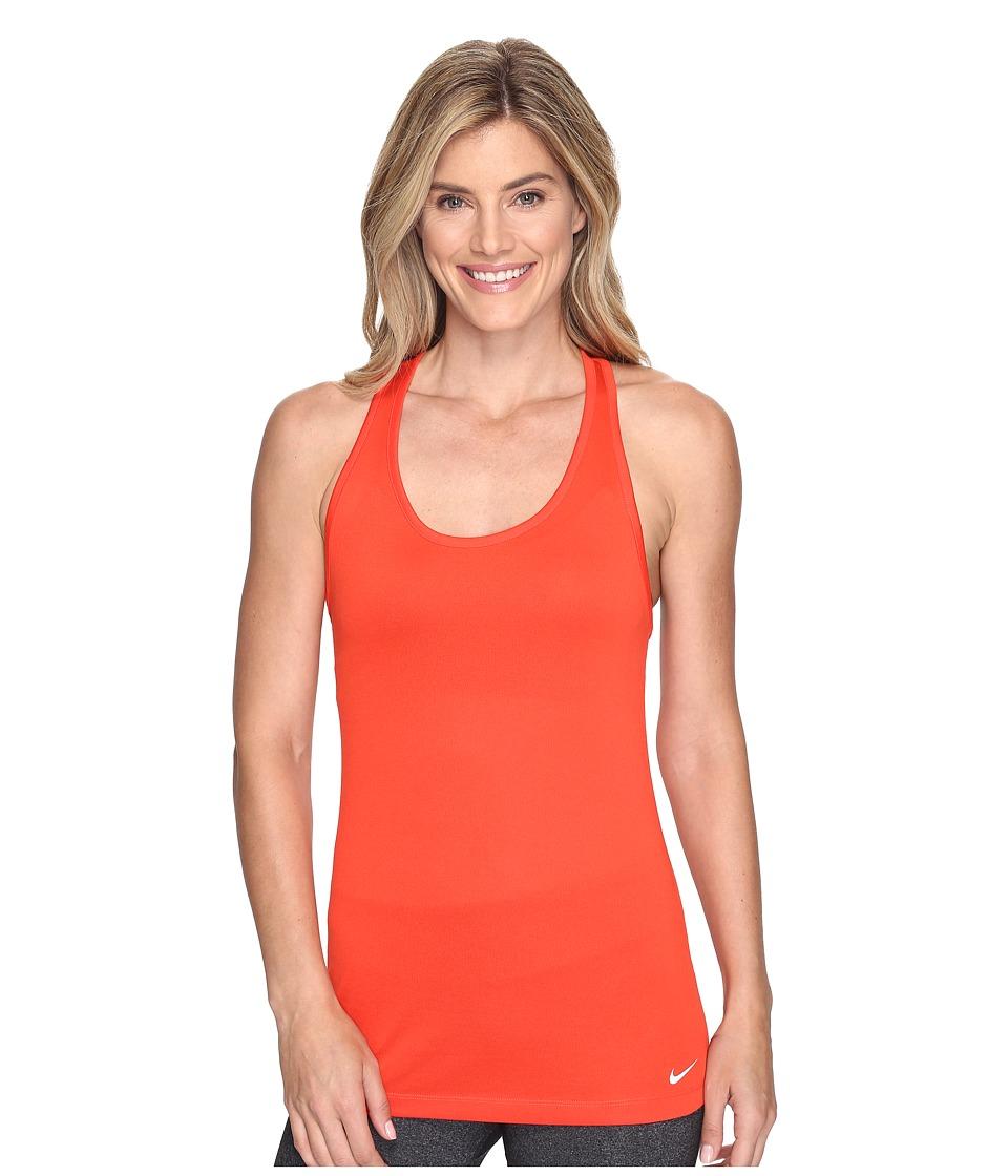 Nike - Dri-FIT Balance Tank Top (Max Orange/White) Women's Sleeveless