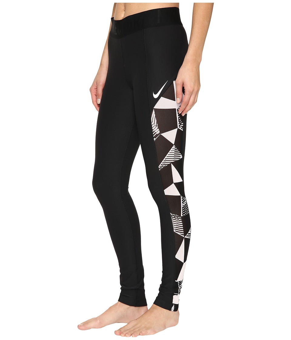 Nike - Court Tennis Tight (Black/White) Women's Casual Pants