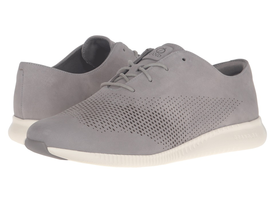 Cole Haan - 2.0 Grand Laser Wing Oxford (Ironstone Nubuck/Ivory) Women's Lace up casual Shoes