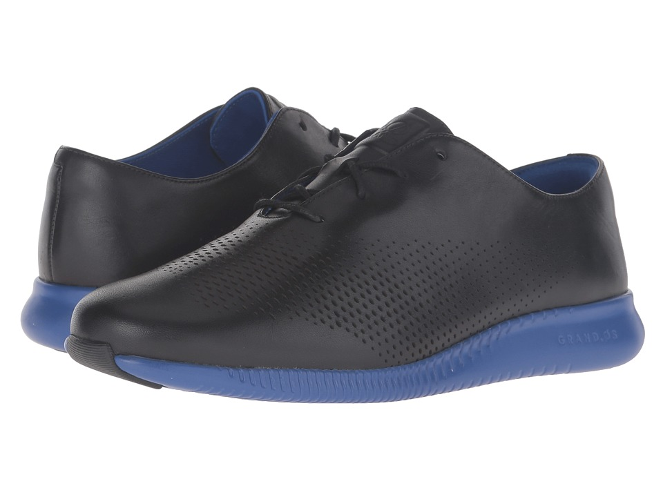 Cole Haan - 2.0 Grand Laser Wing Oxford (Black/Bristol Blue Energy) Women's Lace up casual Shoes