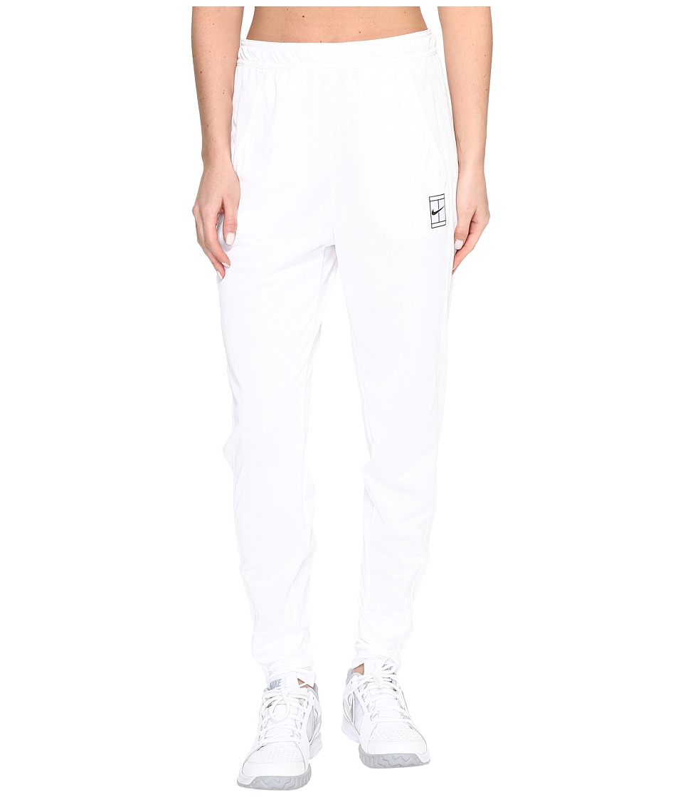 Nike - Court Dry Tennis Pant (White/Black) Women's Casual Pants