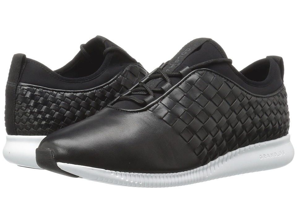 Cole Haan - 2.0 Studiogrand Weave Trainer (Black Leather/Neoprene/Optic White) Women's Shoes