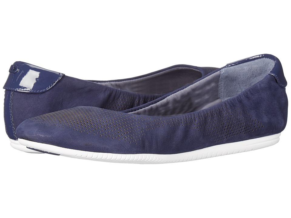 Cole Haan - 2.0 Studiogrand Convertible Ballet (Marine Blue Nubuck/Patent/White) Women's Ballet Shoes