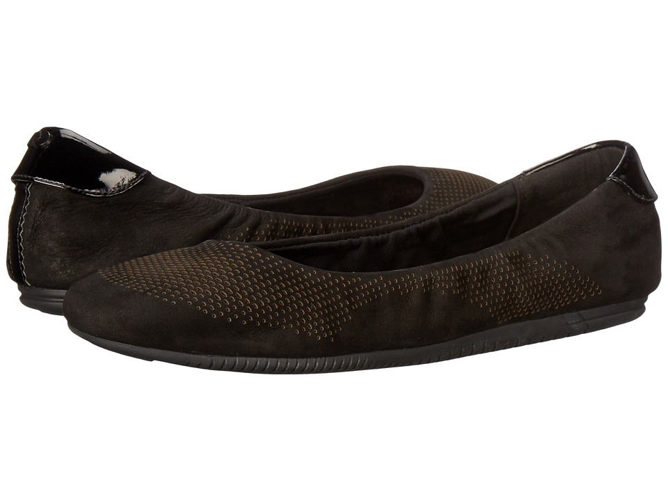 Cole Haan - 2.0 Studiogrand Convertible Ballet (Black Nubuck/Patent/Black) Women's Ballet Shoes