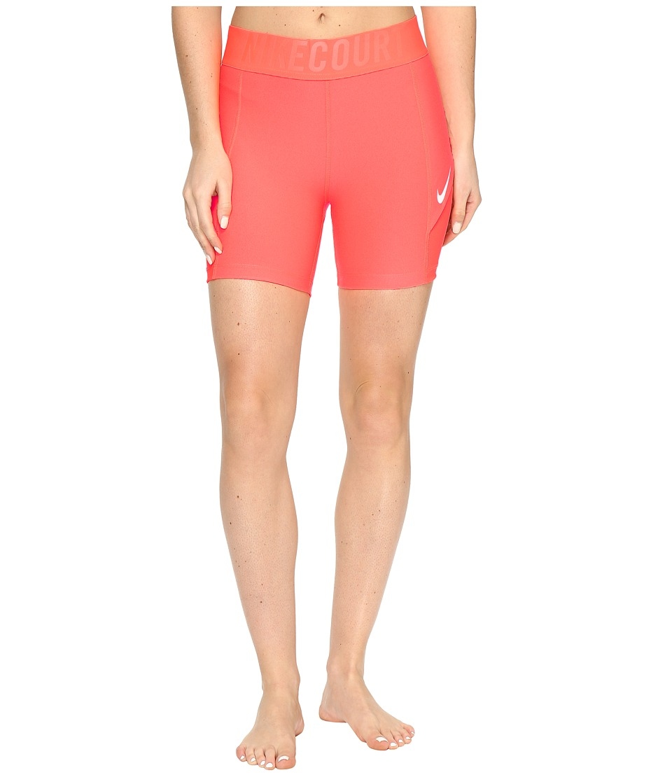 Nike - Court 5 Tennis Short (Hyper Orange/White) Women's Shorts