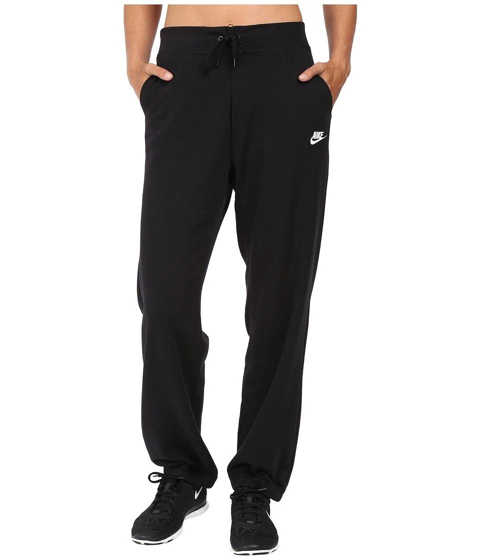 Nike - Sportswear Fleece Pant (Black/Black/White) Women's Casual Pants
