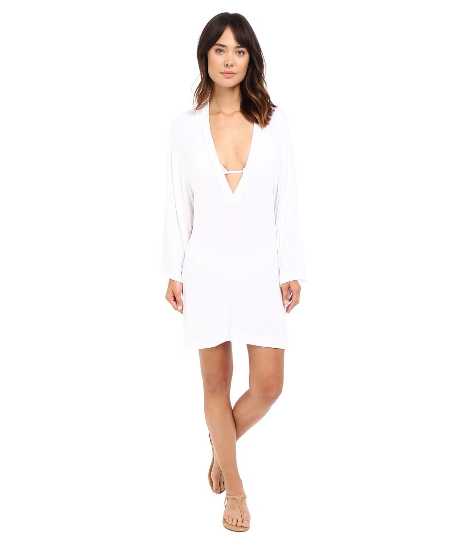 Nautica - Soho Solid Cover-Up NA40707 (White) Women's Swimwear