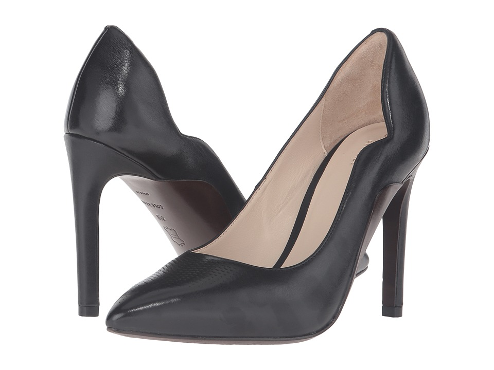 Cole Haan - Antoinette Grand Pump 100mm (Black Leather) Women's Shoes