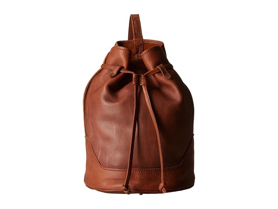 Frye - Cara Bucket (Cognac Washed Oiled Vintage) Shoulder Handbags