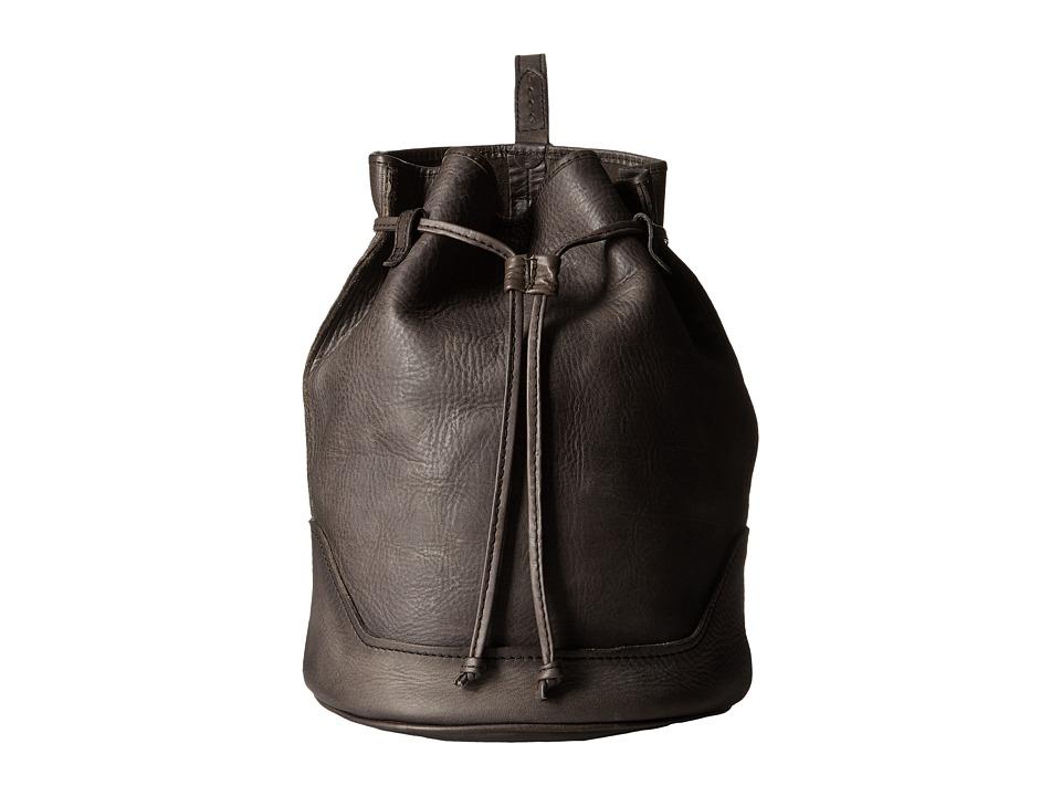 Frye - Cara Bucket (Smoke Washed Oiled Vintage) Shoulder Handbags