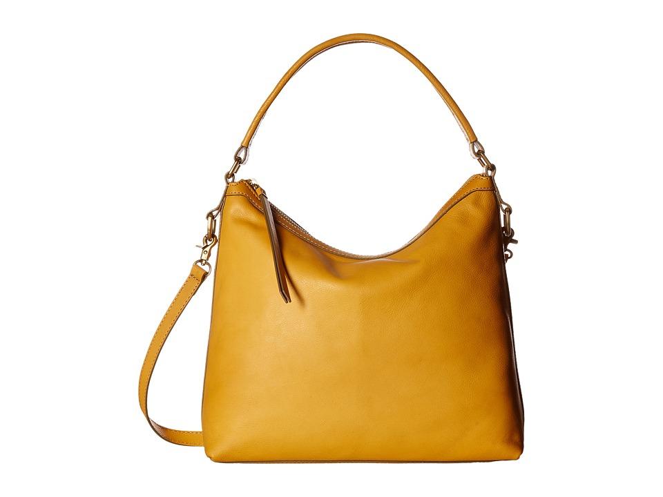 Frye - Claude Hobo (Yellow Pebbled Full Grain) Hobo Handbags