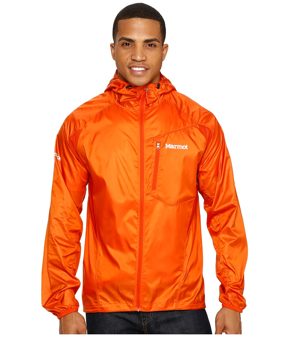 Marmot - Trail Wind Hoodie (Orange Haze) Men's Clothing