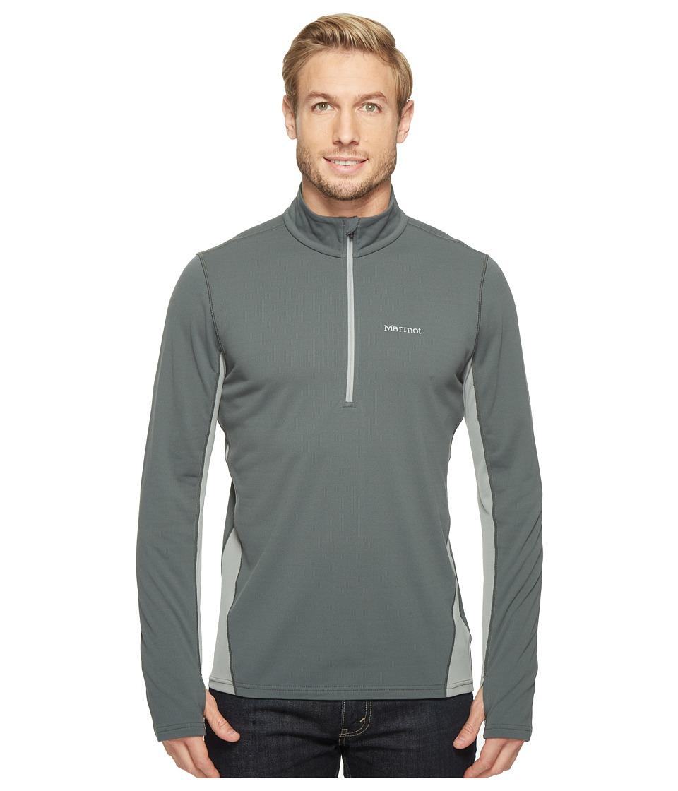 Marmot - Excel 1/2 Zip (Dark Zinc/Grey Storm) Men's Clothing