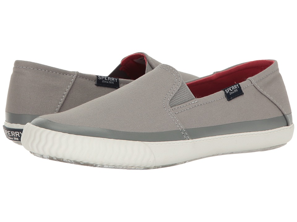 Sperry - Sayel Dive Canvas (Grey) Women's Slip on Shoes