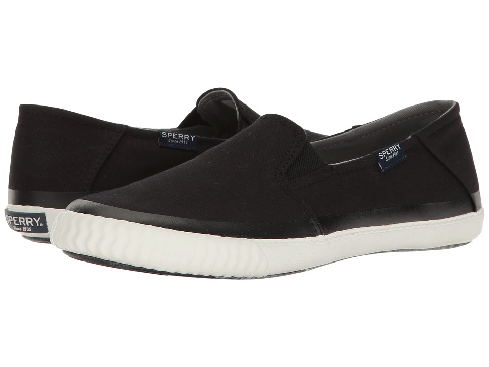 Sperry - Sayel Dive Canvas (Black) Women's Slip on Shoes