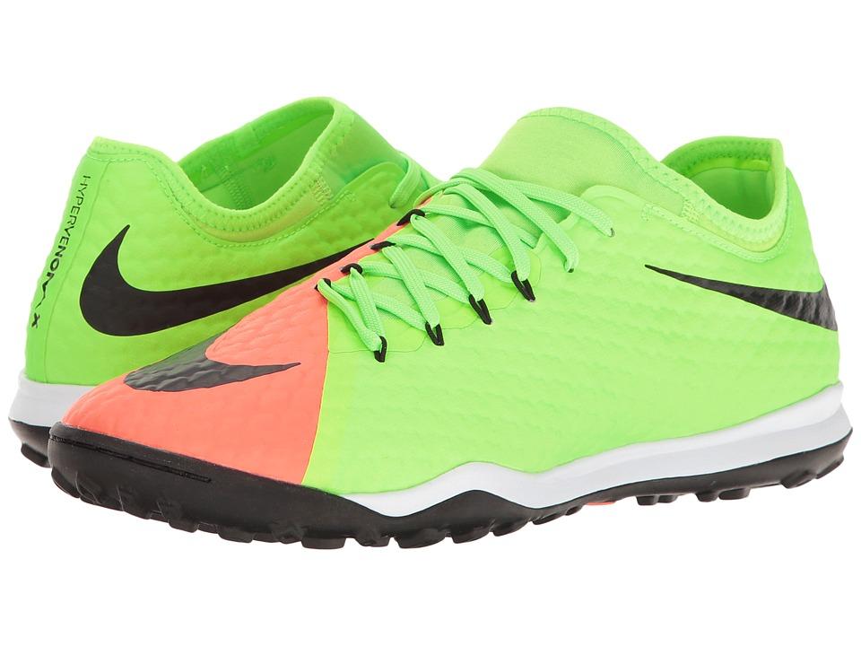 Nike - HypervenomX Finale II TF (Electric Green/Black/Hyper Orange/Bright Mango) Men's Soccer Shoes