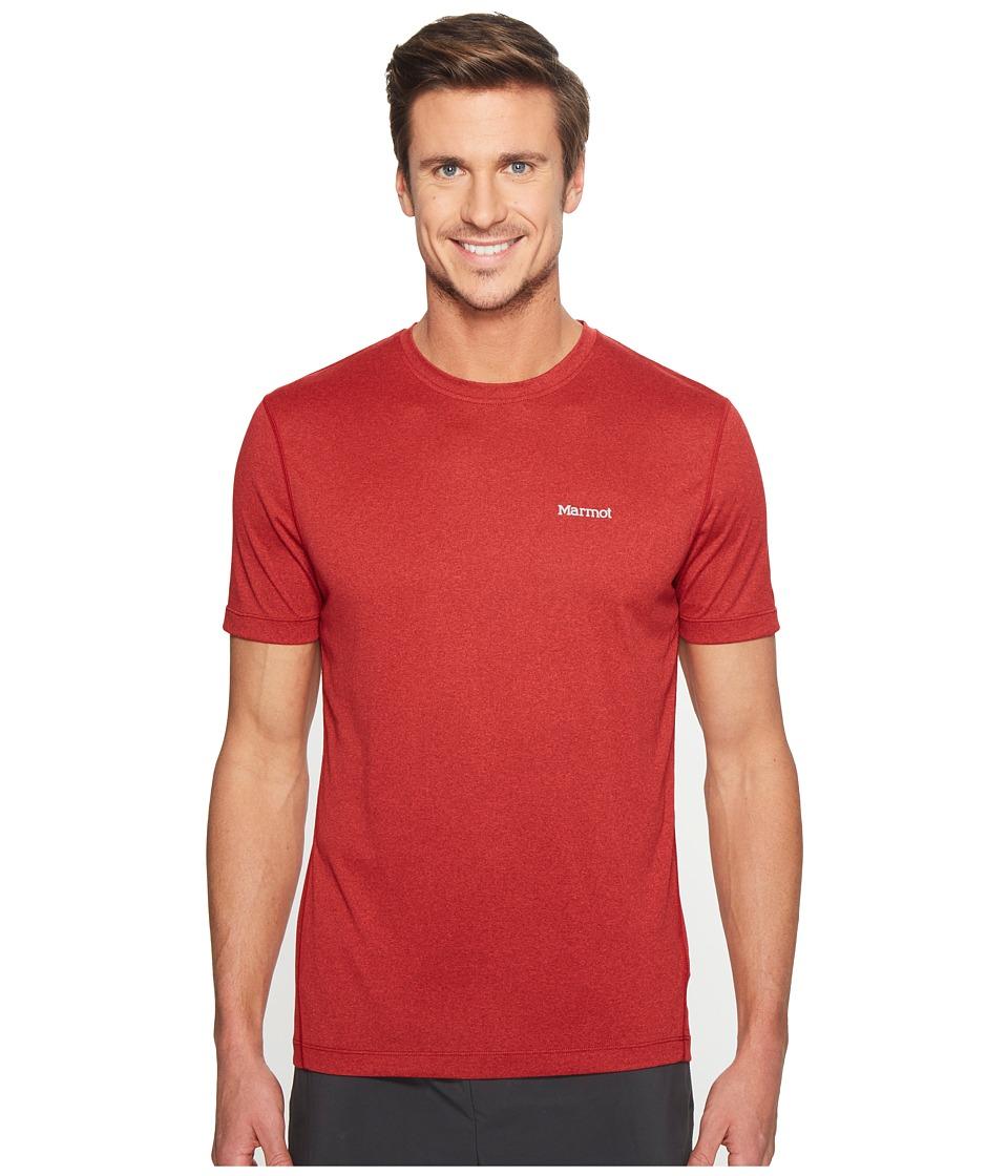 Marmot - Conveyor S/S Tee (True Team Red Heather) Men's T Shirt