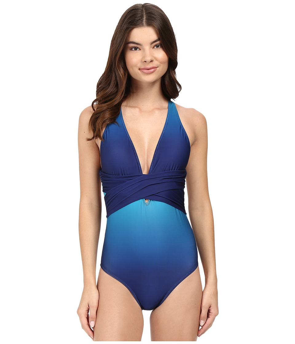 Athena - Indo Ombre Alana Cross One-Piece (Multi) Women's Swimsuits One Piece