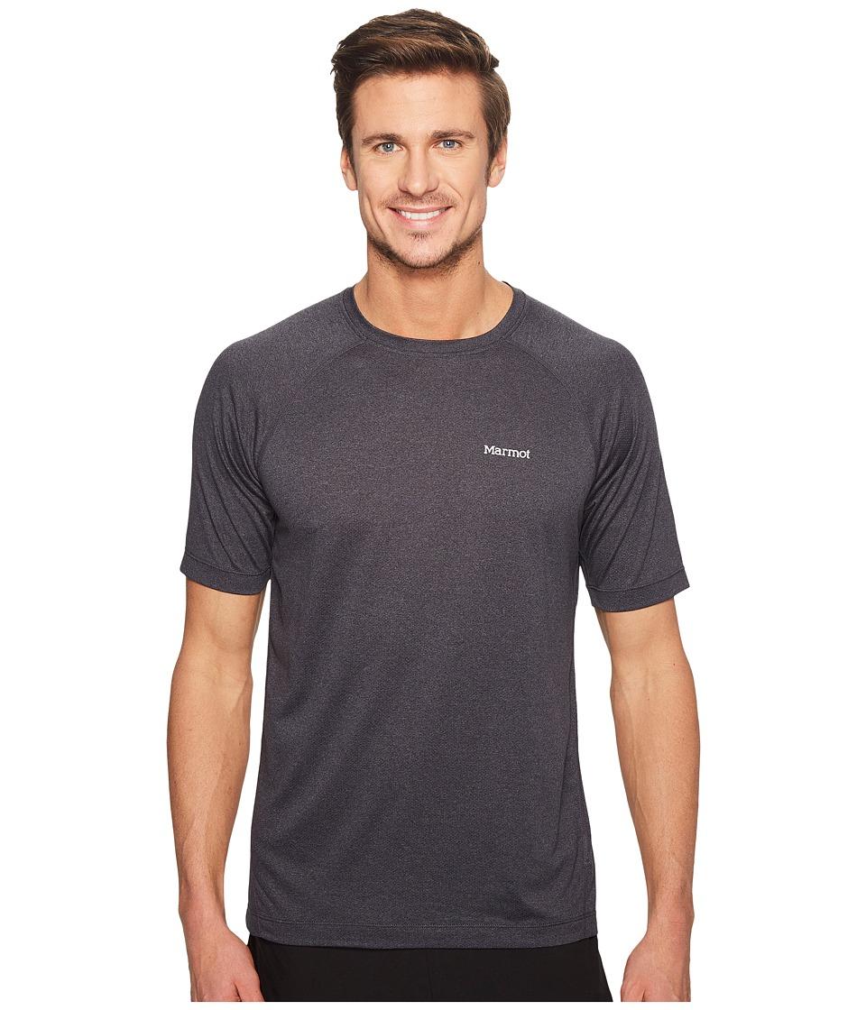Marmot - Accelerate Short Sleeve (Black Heather) Men's Clothing