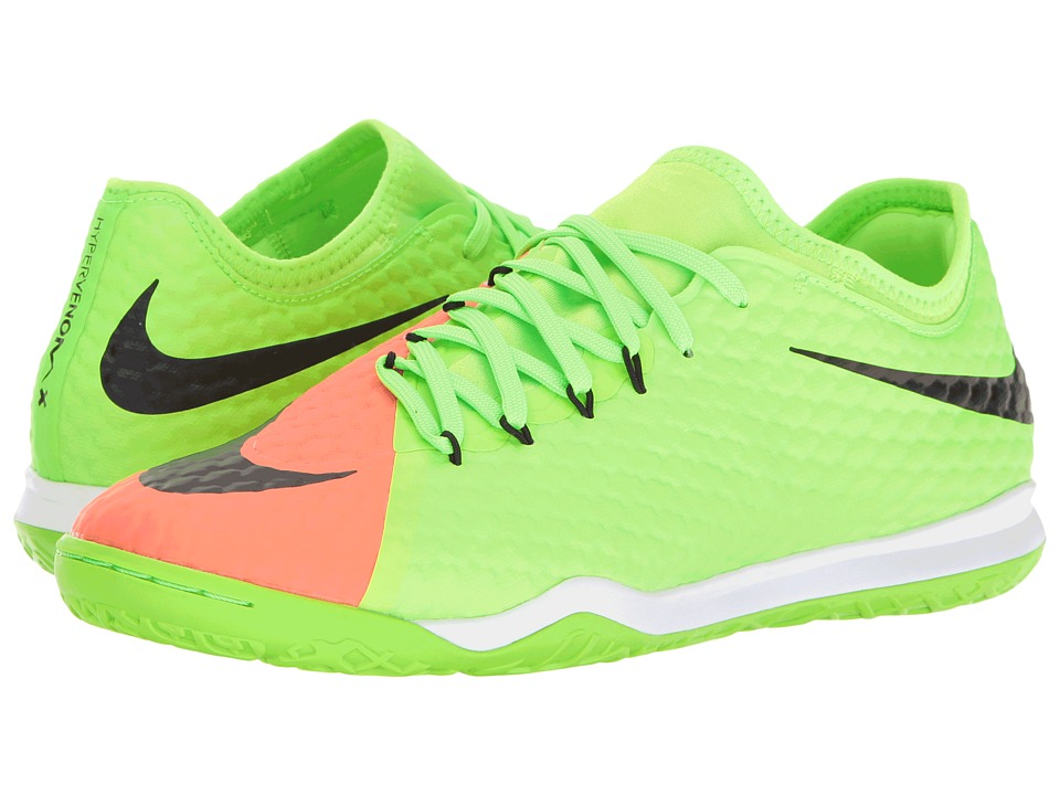 Nike - HypervenomX Finale II IC (Electric Green/Black/Hyper Orange/Bright Mango) Men's Soccer Shoes