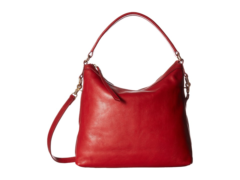 Frye - Claude Hobo (Red Pebbled Full Grain) Hobo Handbags