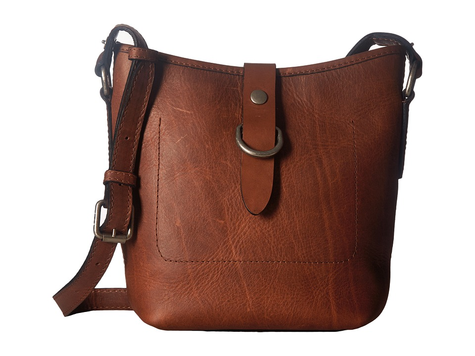 Frye - Amy Bucket (Cognac Washed Oiled Vintage) Cross Body Handbags
