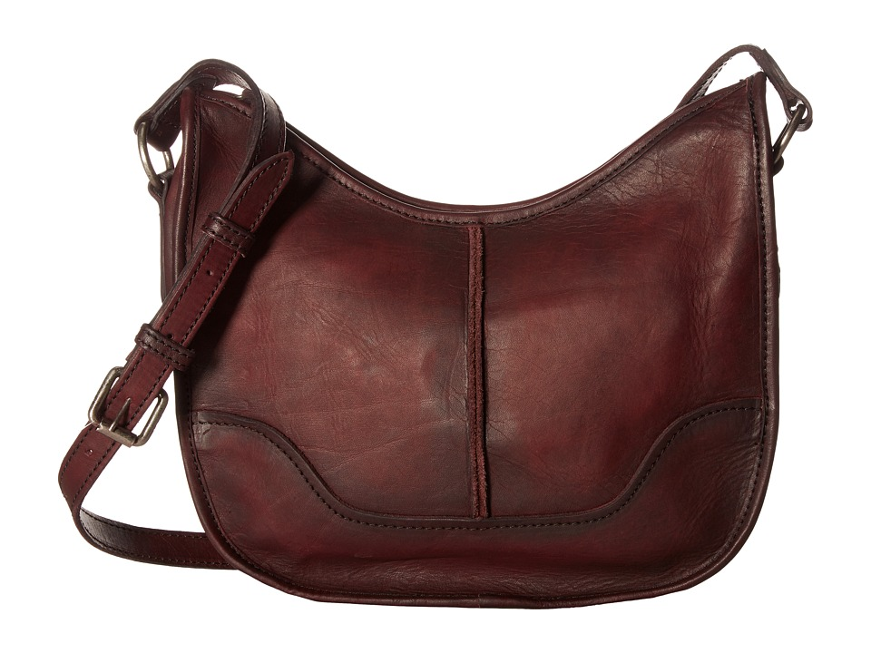 Frye - Cara Saddle (Burgundy Washed Oiled Vintage) Hobo Handbags