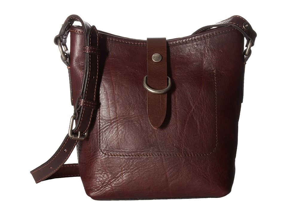 Frye - Amy Bucket (Burgundy Washed Oiled Vintage) Cross Body Handbags