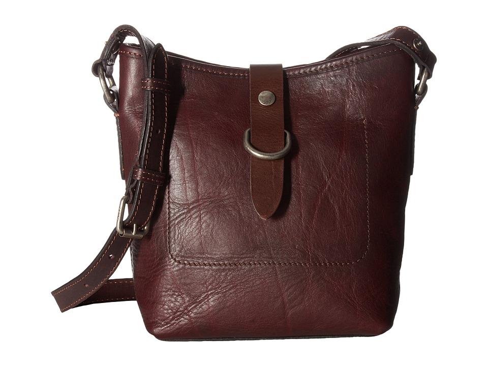 Frye - Amy Bucket (Burgundy Washed Oiled Vintage) Cross Body Handbags