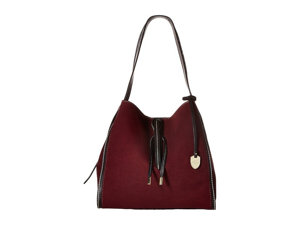 London Fog - Newbury 4-Poster (Plum Suede) Handbags