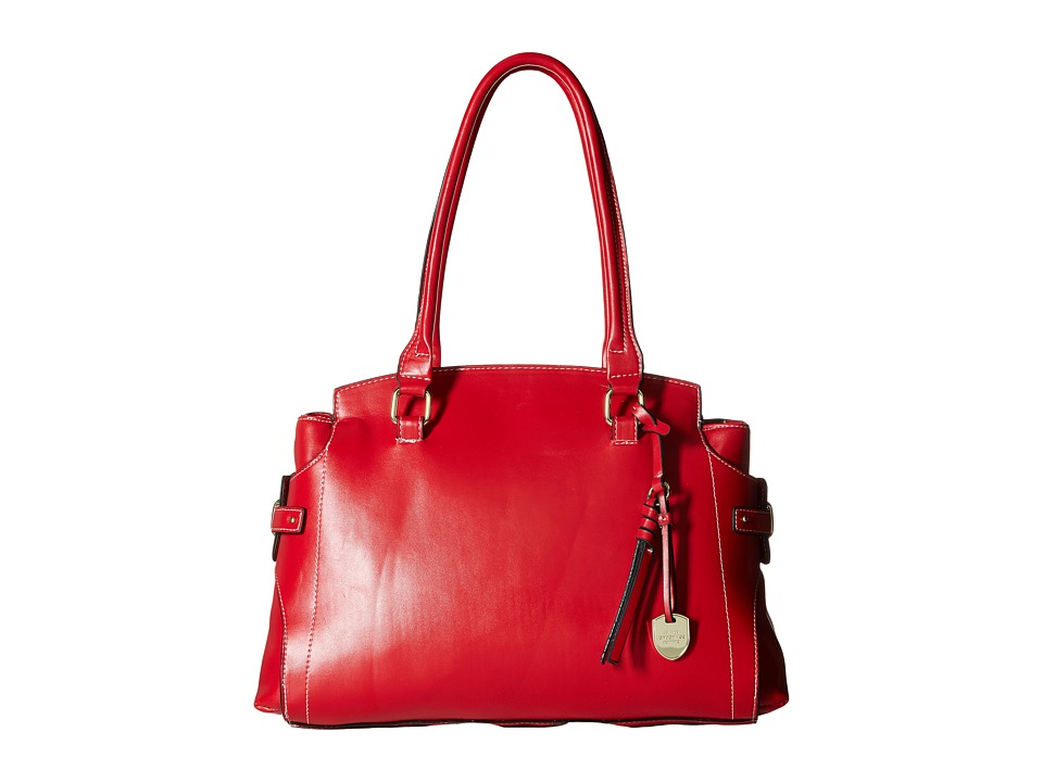 London Fog - Kingston Tripe (Red) Handbags