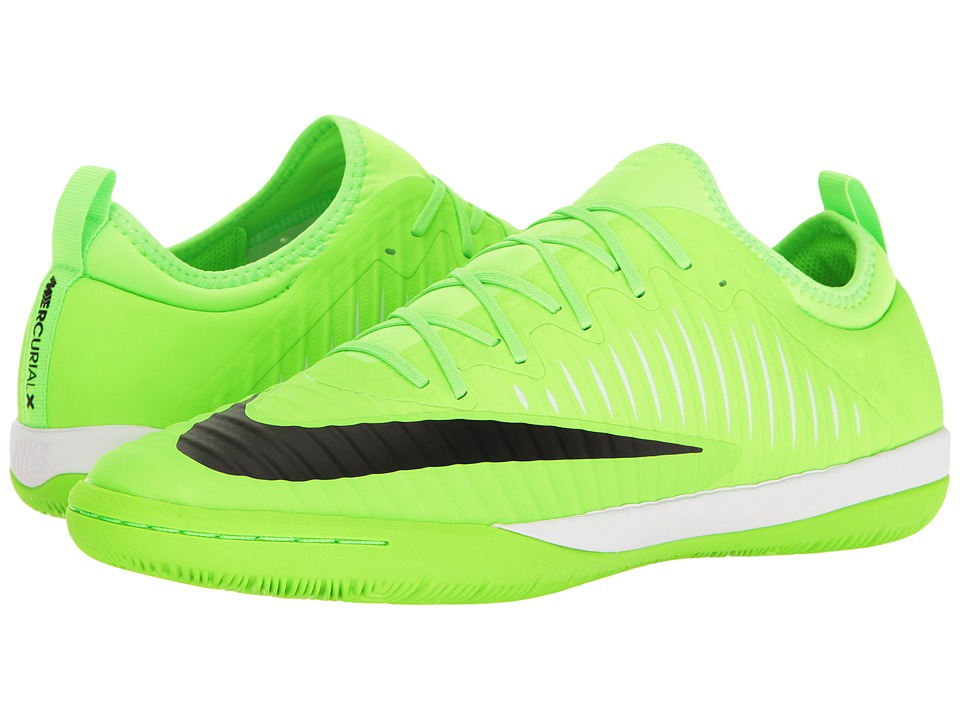 Nike - MercurialX Finale II IC (Flash Lime/Black/White/Gum Light Brown) Men's Soccer Shoes