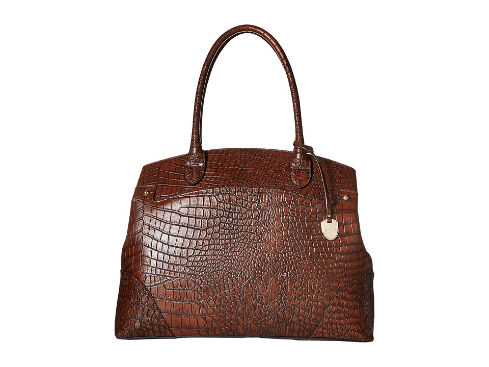 London Fog - Reid Tote (Mahogany Croco) Tote Handbags