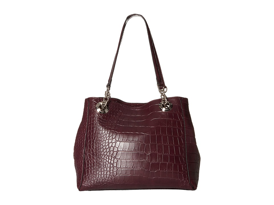 London Fog - Barrow Tote (Plum Croco) Tote Handbags