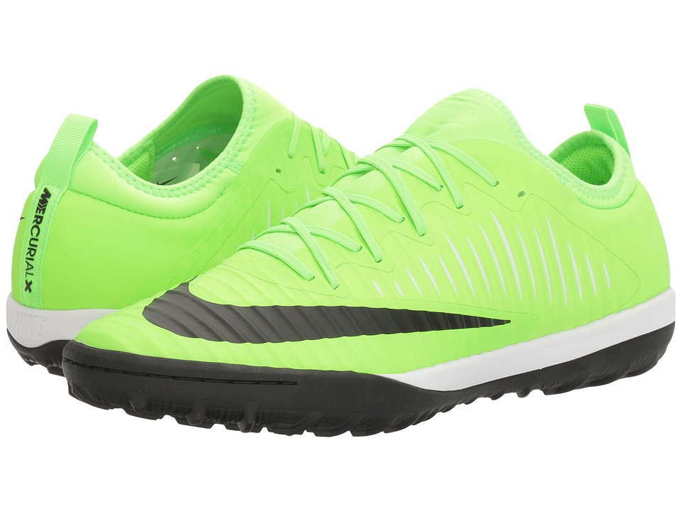 Nike - MercurialX Finale II TF (Flash Lime/Black/White/Gum Light Brown) Men's Soccer Shoes