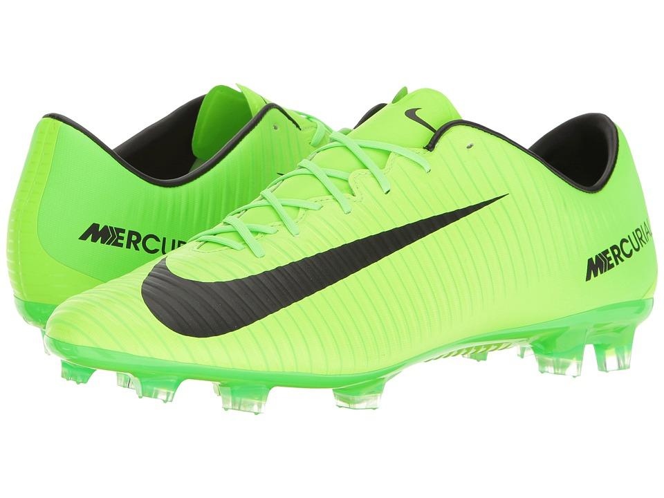 Nike - Mercurial Veloce III FG (Electric Green/Black/Flash Lime/White) Men's Soccer Shoes