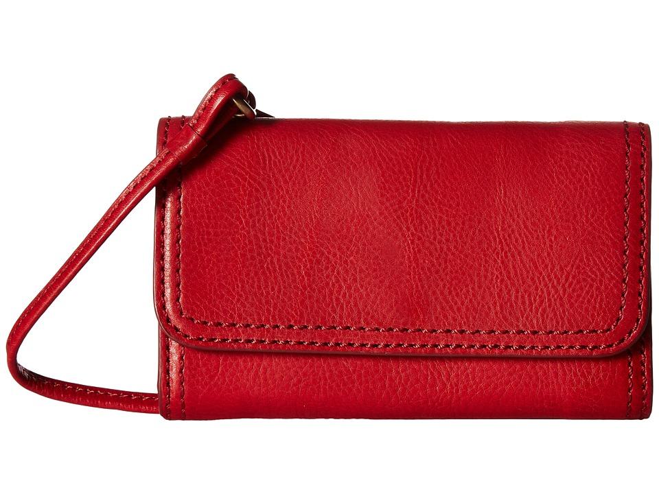 Frye - Claude Phone Crossbody (Red Pebbled Full Grain) Cross Body Handbags