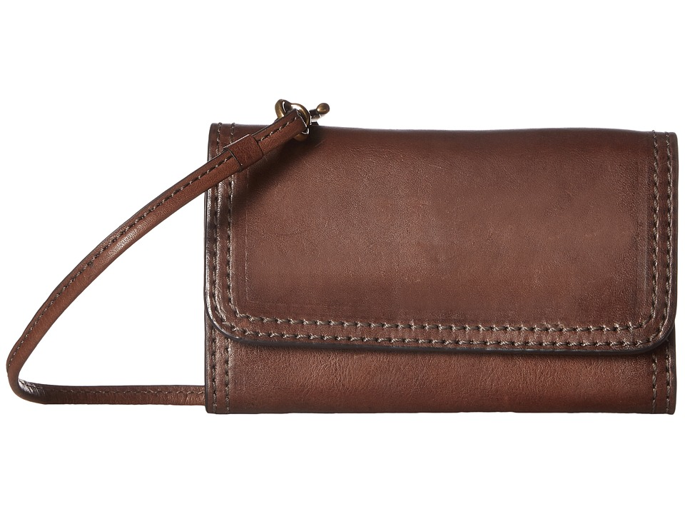 Frye - Claude Phone Crossbody (Chocolate Pebbled Full Grain) Cross Body Handbags
