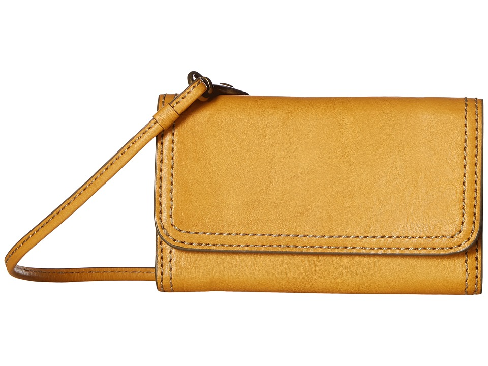 Frye - Claude Phone Crossbody (Yellow Pebbled Full Grain) Cross Body Handbags