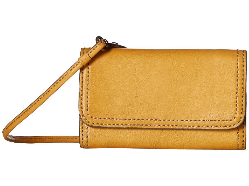 Frye - Claude Phone Crossbody (Yellow Pebbled Full Grain) Cross Body Handbags