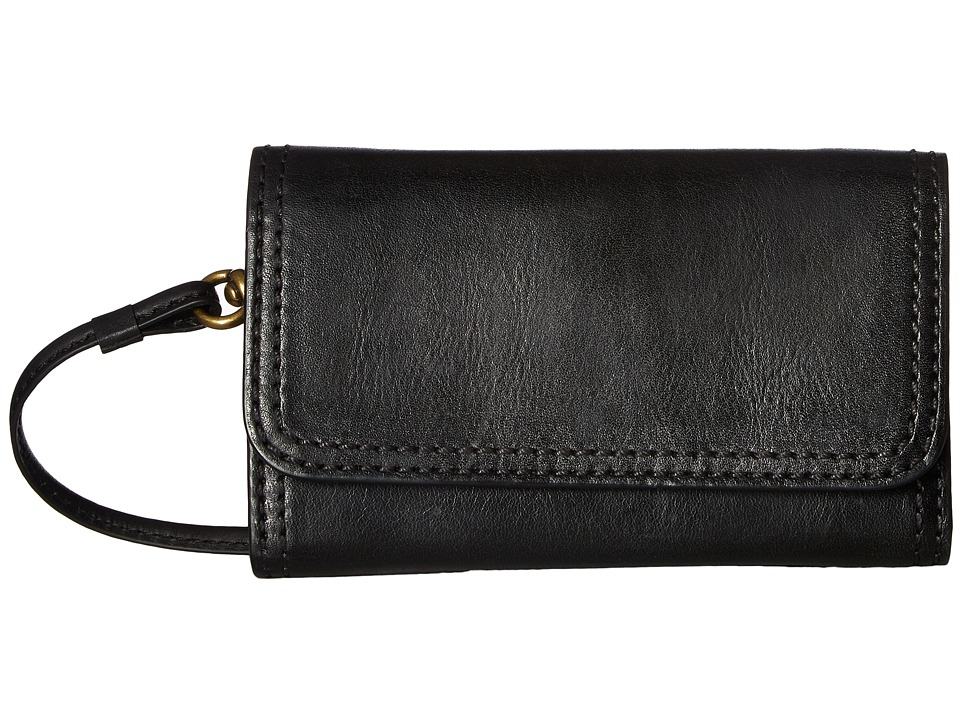 Frye - Claude Phone Crossbody (Black Pebbled Full Grain) Cross Body Handbags