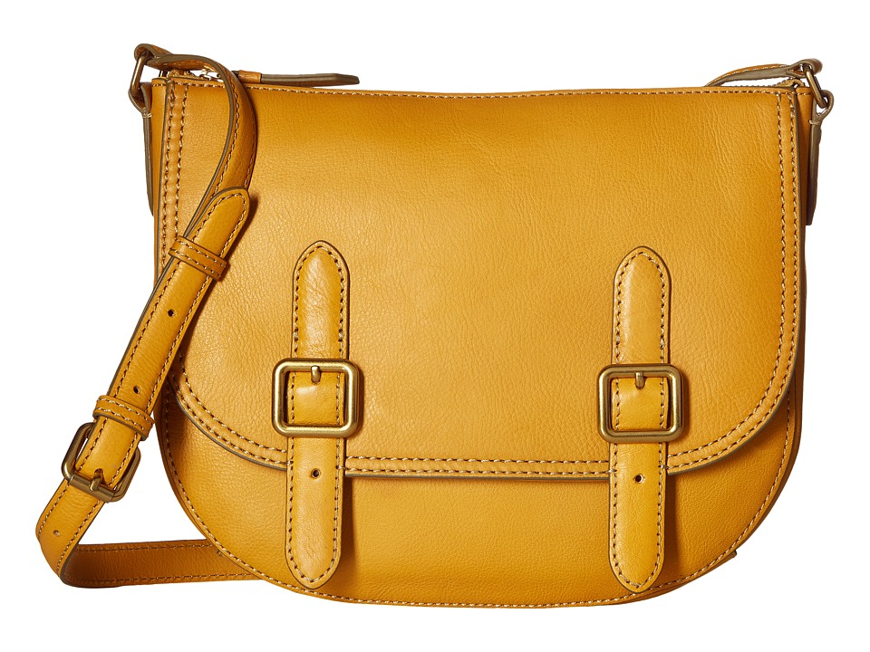 Frye - Claude Crossbody (Yellow Pebbled Full Grain) Cross Body Handbags