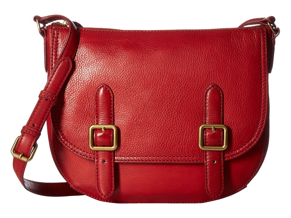 Frye - Claude Crossbody (Red Pebbled Full Grain) Cross Body Handbags