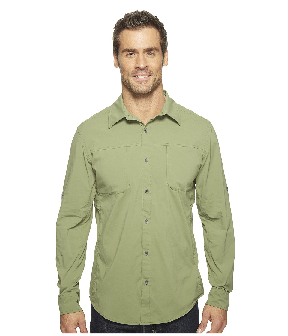 Marmot - Trient Long Sleeve (Stone Green) Men's Clothing