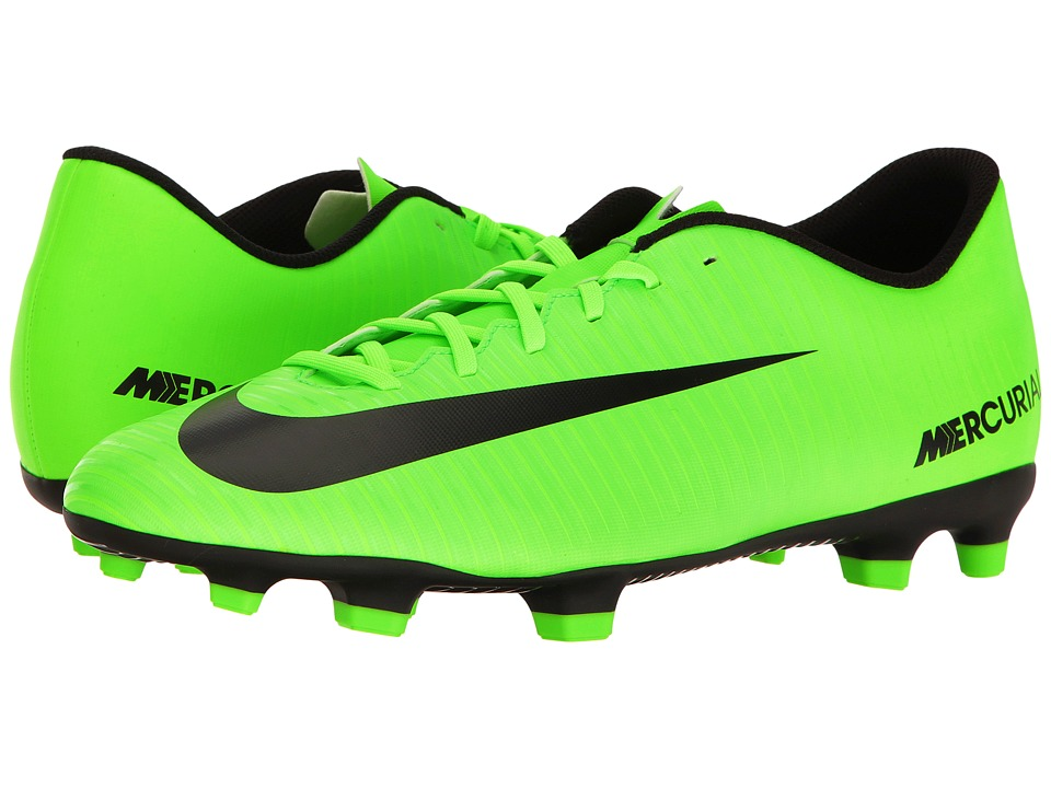 Nike - Mercurial Vortex III FG (Electric Green/Black/Flash Lime/White) Men's Soccer Shoes