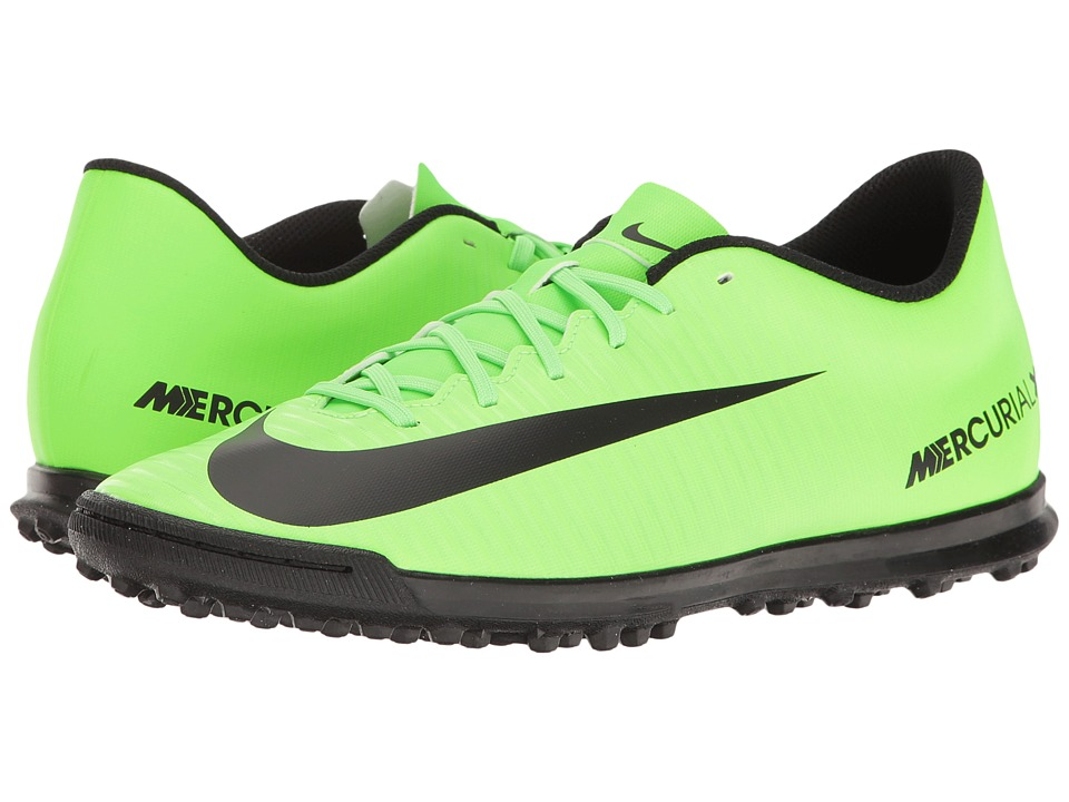 Nike - MercurialX Vortex III TF (Electric Green/Black/Flash Lime/White) Men's Soccer Shoes