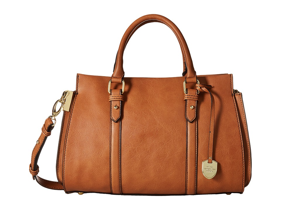 London Fog - Croft Satchel (Cognac) Satchel Handbags