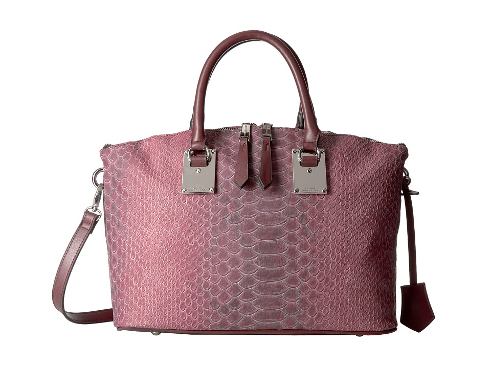 London Fog - Smithfield Satchel (Beet Snake) Satchel Handbags