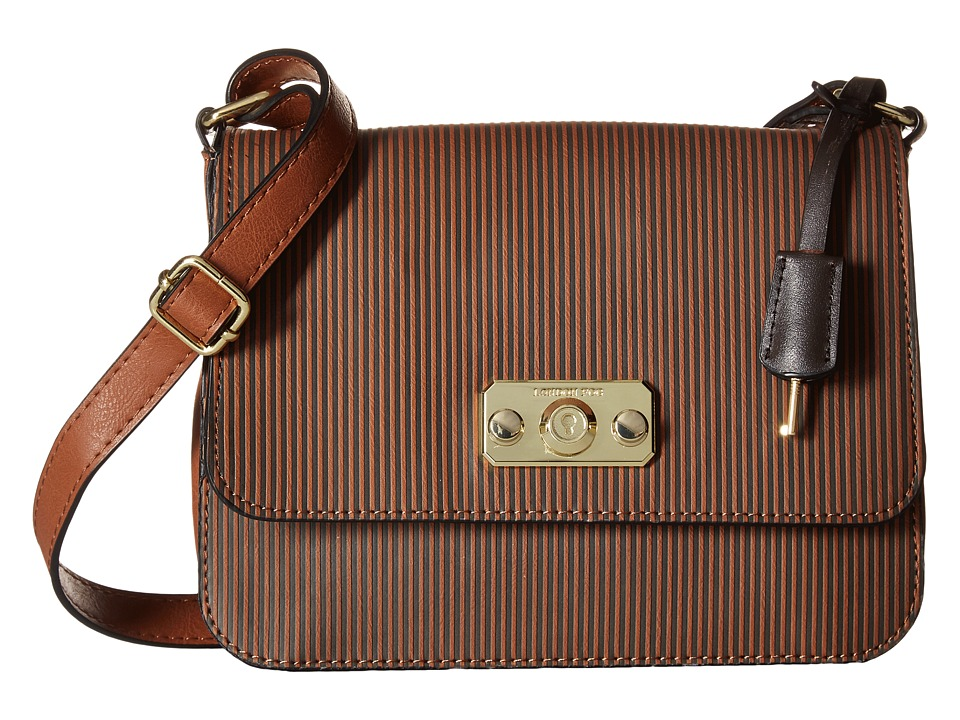 London Fog - Strattford Crossbody (Nutmeg Stripe) Cross Body Handbags