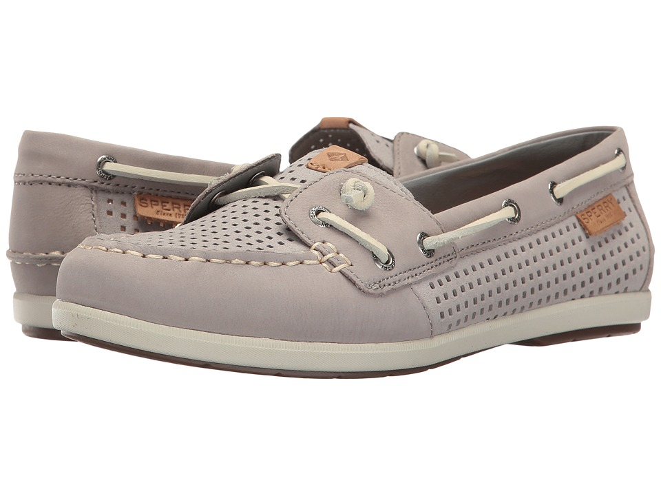 Sperry - Coil Ivy Perf (Grey) Women's Moccasin Shoes